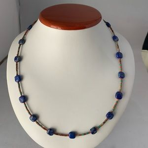 AD LOPEZ Lapis and Turquoise Necklace